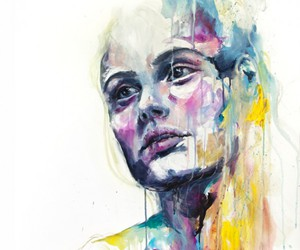 art, portrait, and watercolor image