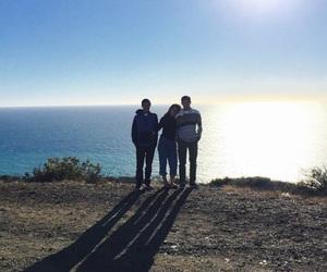 beach, family, and malibu image