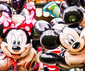 balloons and mickey mouse image