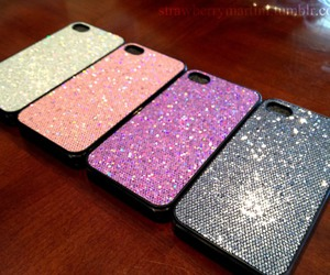glitter, iphone, and iphone cases image