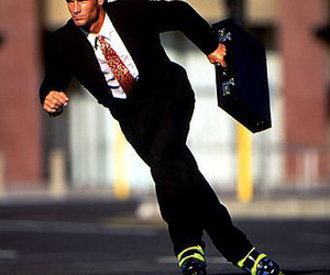 business, funny, and roller skates image