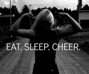 cheer, cheerleading, and cheerleader image