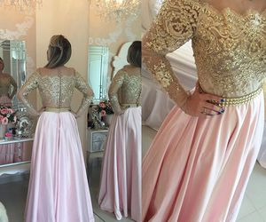 long prom dresses and long sleeves prom dresses image