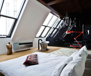 design, room, and bed image