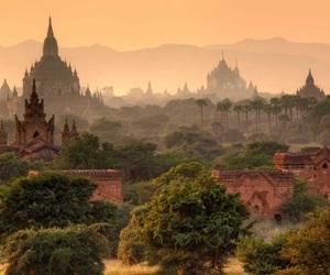 myanmar, nature, and bagan image
