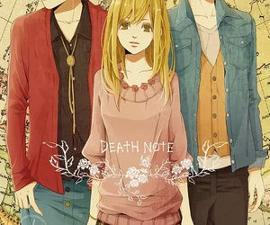 anime, L, and death note image