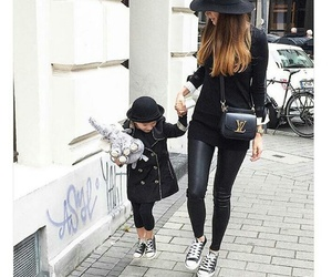 fashion, black, and daughter image