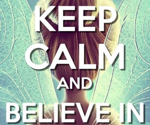 fairy, keep calm, and tinkerbell image