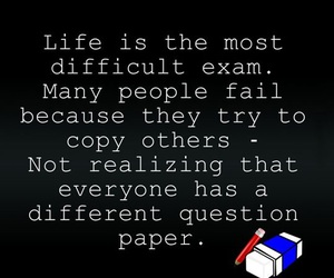 life, quote, and exam image