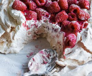 cake, food, and raspberry image