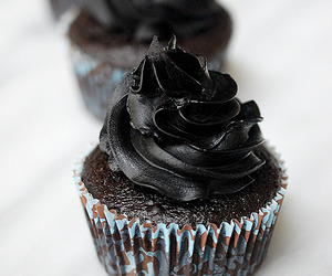 black, desserts, and food image