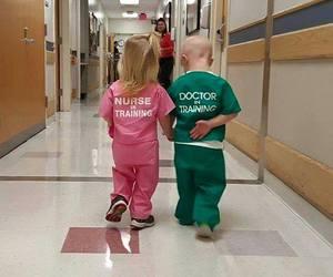 doctor, nurse, and training image