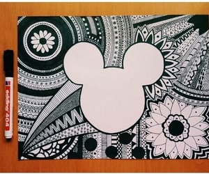 drawing, black, and disney image