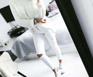 fashion, knit, and outfit image