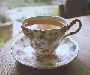 vintage, tea, and drink image