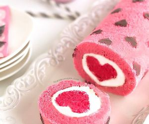 heart, cake, and pink image