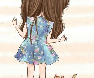 cute, cartoon, and cat image