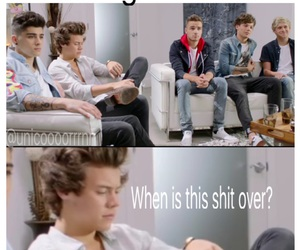 boring, Harry Styles, and funny image