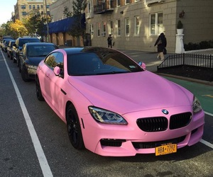 pink, car, and bmw image