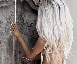 hair, blonde, and white image