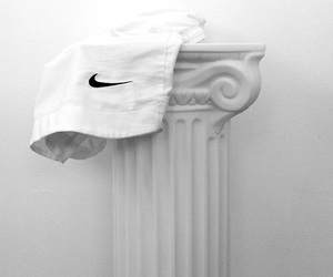 white, nike, and grunge image