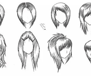 draw and hair image