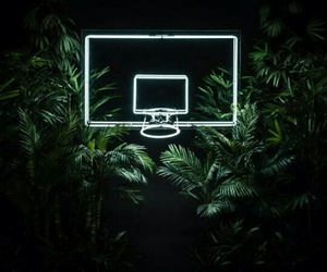 Basketball, green, and light image