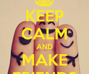 keep calm and friends image