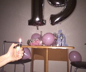 19, balloons, and roses image