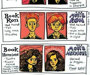 harry potter, book, and movie image