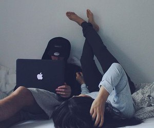 couple, goals, and laptop image