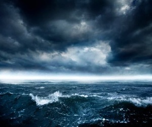 blue, ocean, and storm image