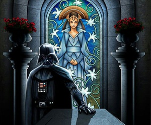 star wars, darth vader, and padmé image