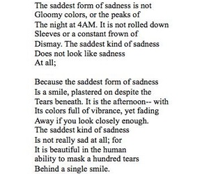 poem and sad image
