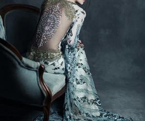 dress, elegant, and girl image