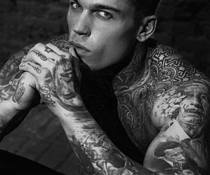 stephen james, model, and Tattoos image