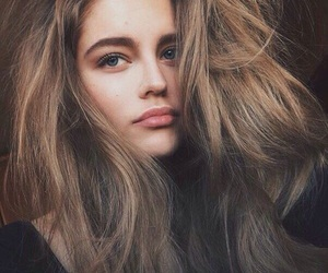 model, beautiful, and hair image