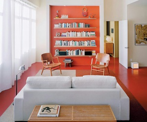 accent wall, home, and bright color image