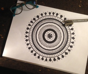 art, artwork, and glasses image