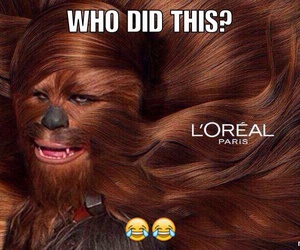 funny, hair, and star wars image