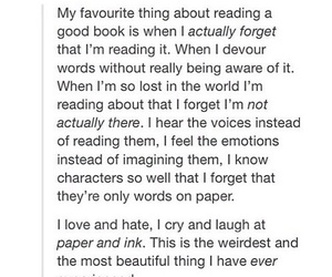 reading, true, and tumblr post image