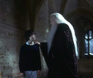 albus dumbledore, snape, and harry potter image