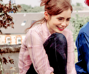 lily collins, rosie, and stuck in love image