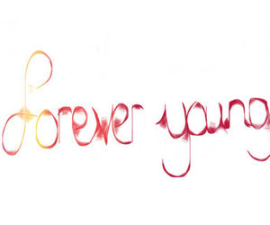 Forever Young, quote, and pink image