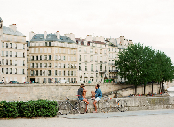 couple, bike, and city image