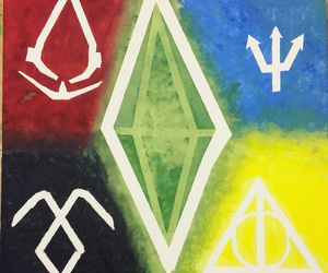harrypotter, sims, and percyjackson image