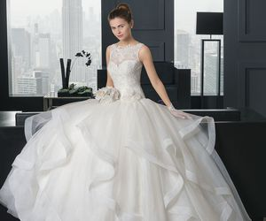 wedding dress, fashion, and dress image