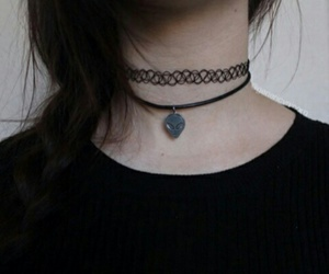 girl, grunge, and choker image