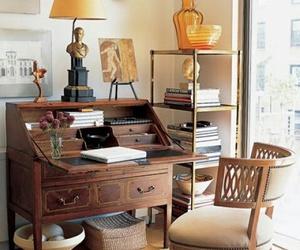 antique furniture, desk, and home image