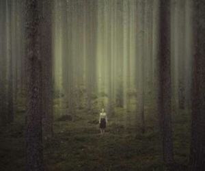 woods and girl image
